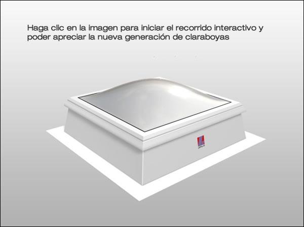 Claraboyas de c pula ci system f100 - Claraboyas para tejados ...